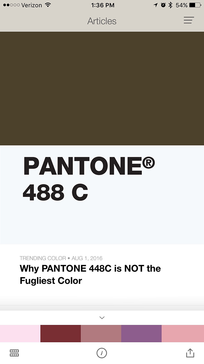 turn your pictures into color palettes with pantone u0027s new app