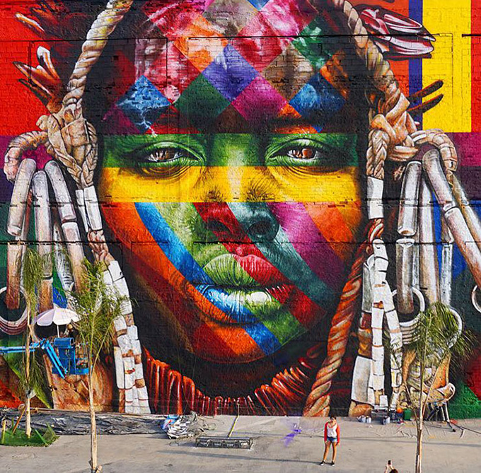 worlds largest street mural rio - 002