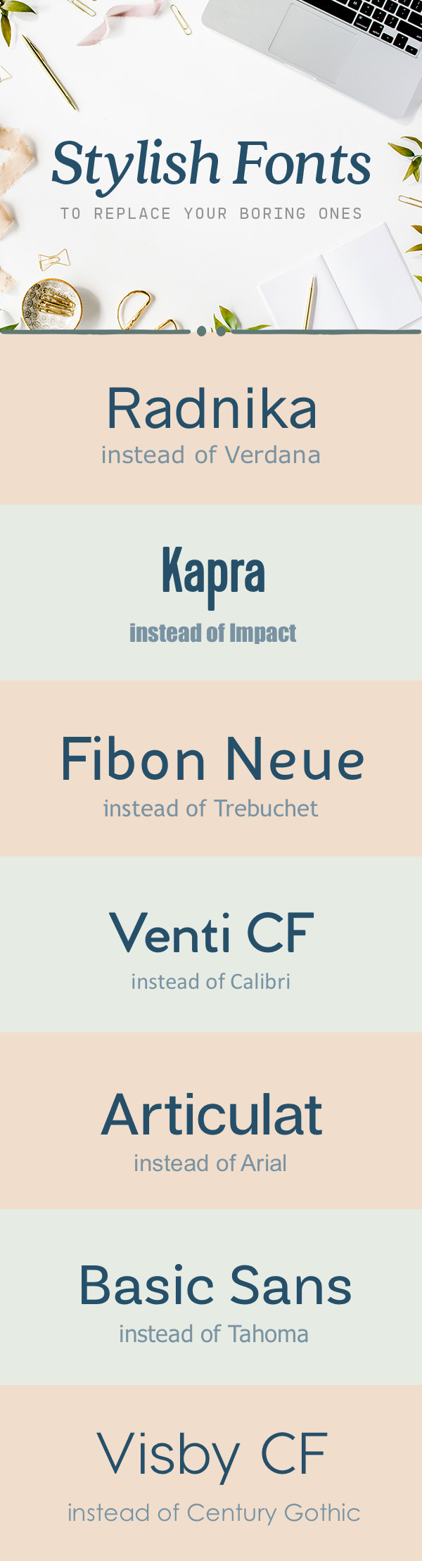 Stylish fonts to replace all your boring ones creative market blog pin it for later fandeluxe Image collections