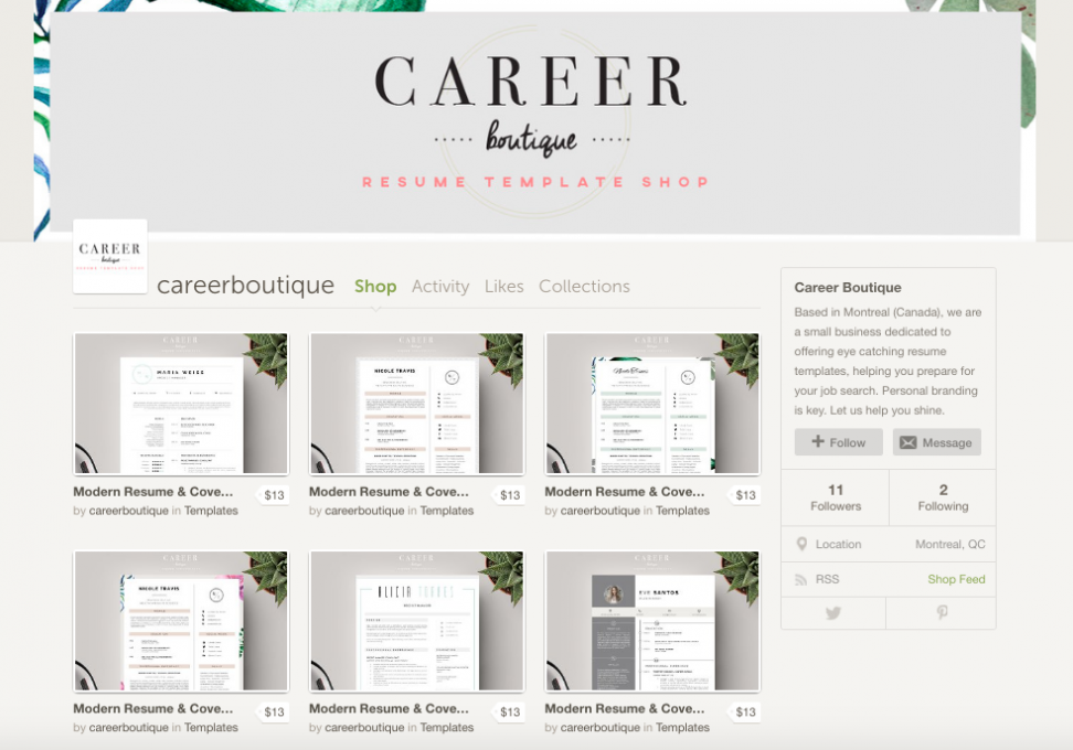 New Shop on the Block: Career Boutique ~ Creative Market Blog