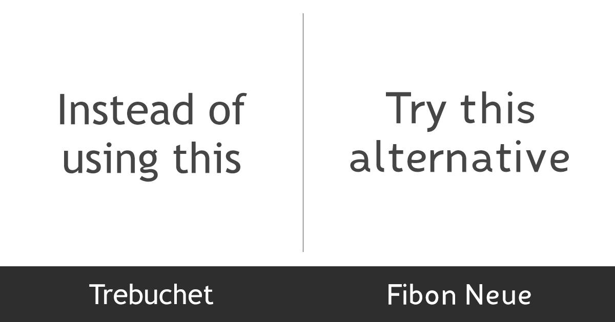 stylish-fonts-trebuchet-fibon-neue
