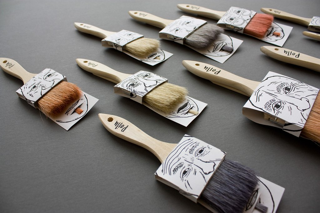 Poilu Paintbrushes packaging