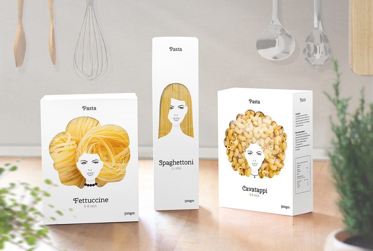 Good Hair Day Pasta Concept by Nikita