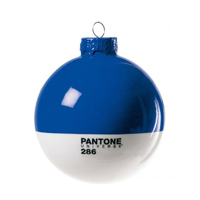 blue Pantone Christmas ornament