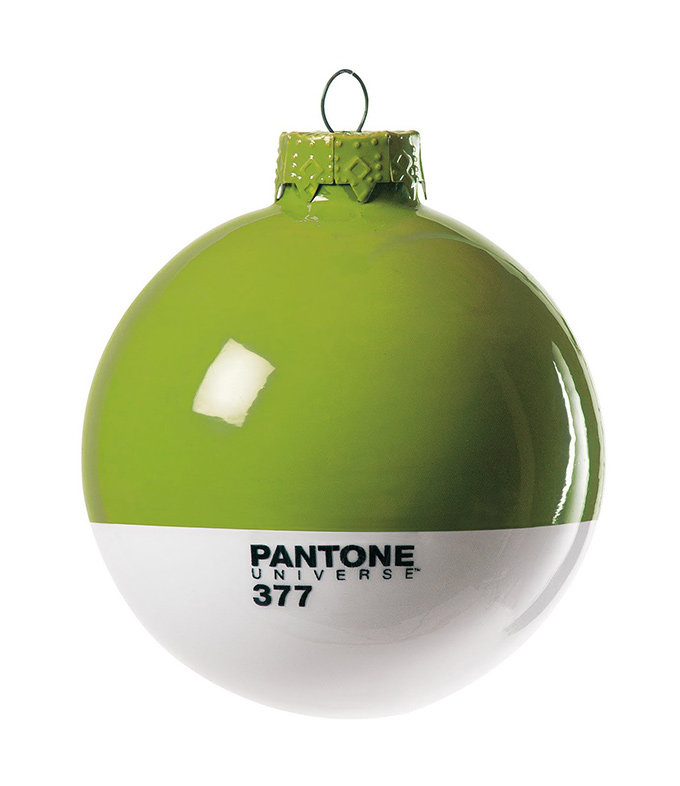 green Pantone Christmas ornament