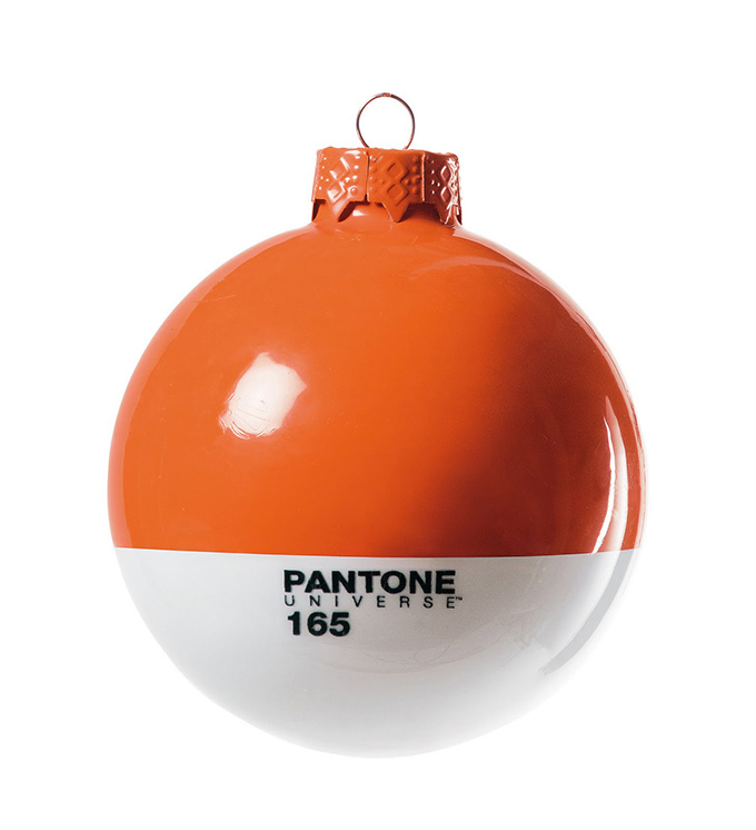 orange Pantone Christmas ornament