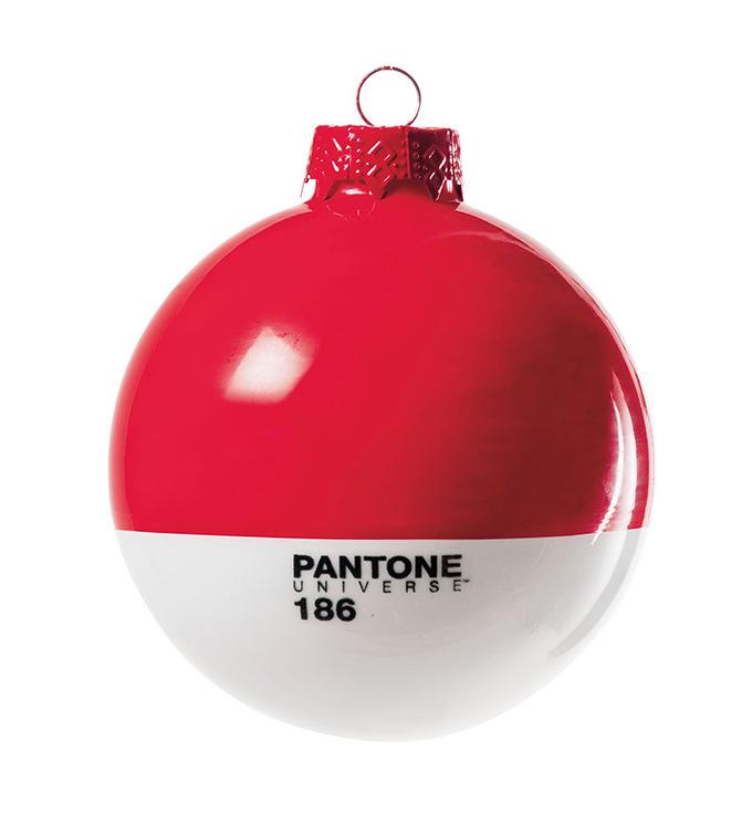 red Pantone Christmas ornament
