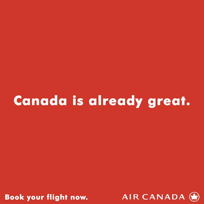 Air Canada print ad