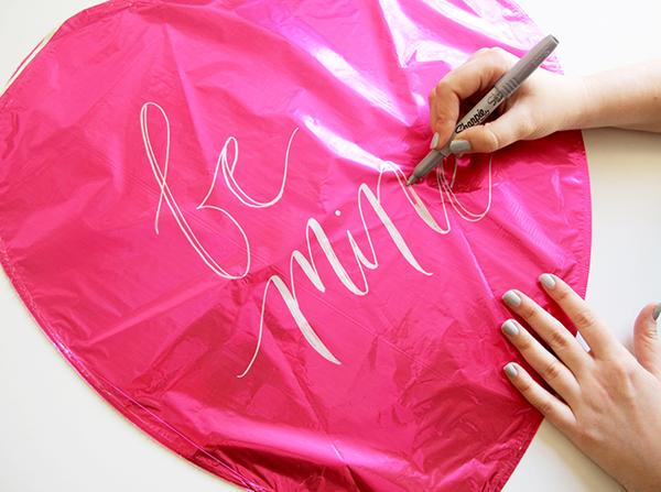 Valentine's Day Balloon Lettering