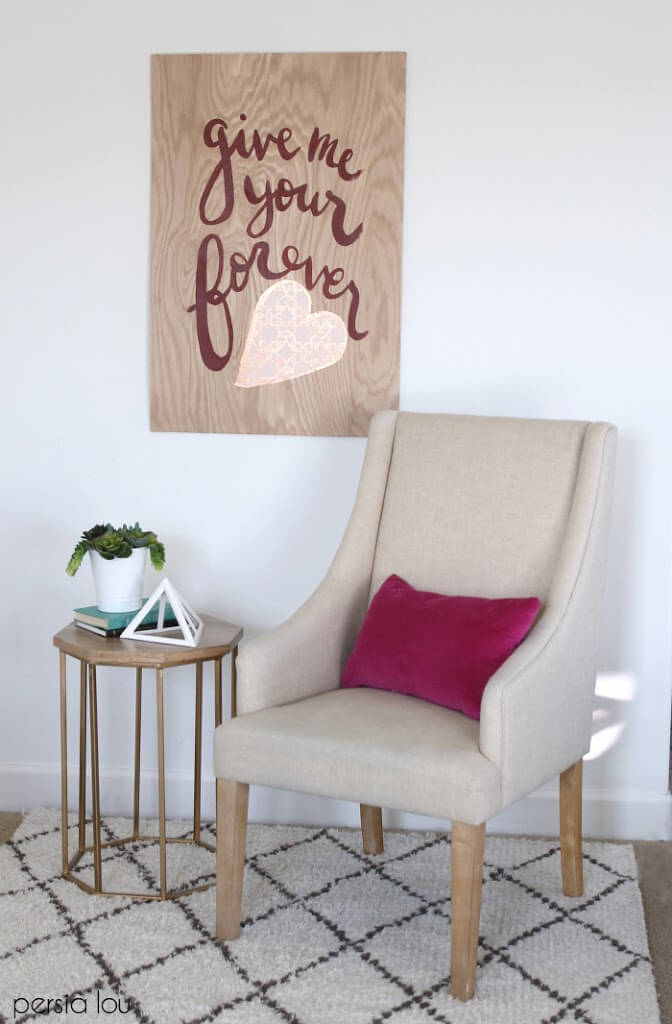 Plywood Valentine's Day Sign