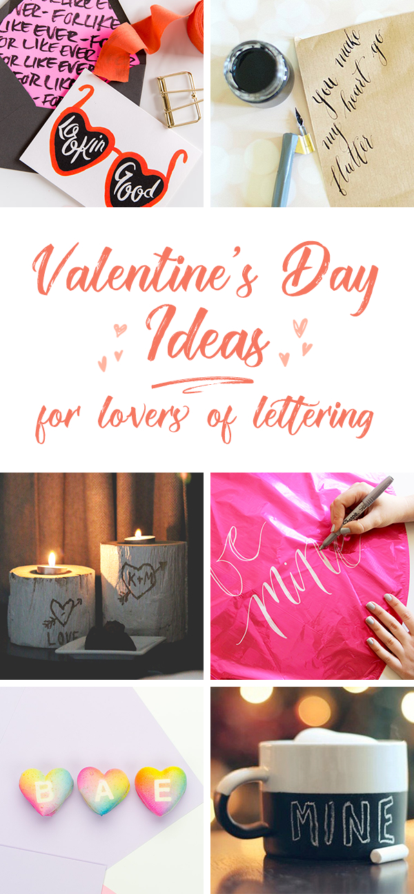 Valentine's Ideas for Lettering Lovers