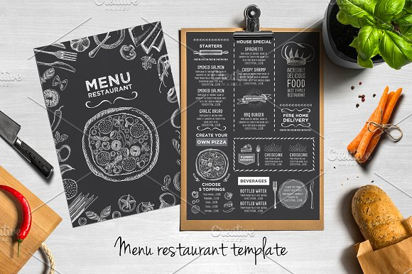 50 Restaurant Menu Designs That Look Better Than Food ~ Creative ...