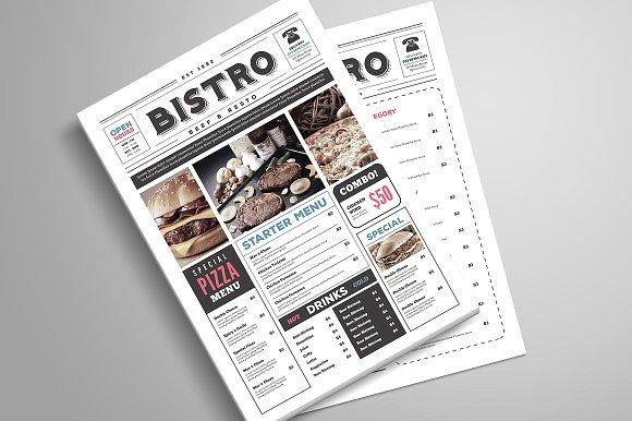 Restaurant menu designs that look better than food
