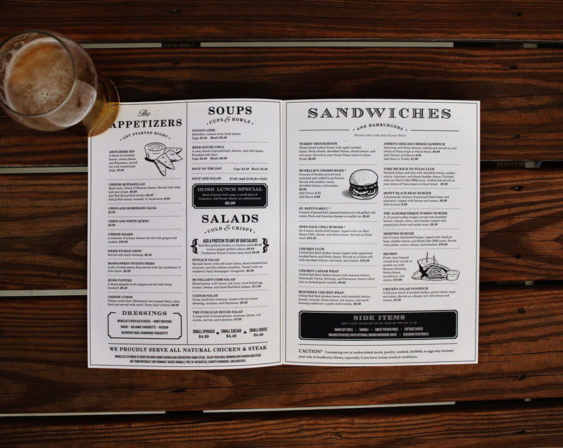 50 restaurant menu designs that look better than food creative