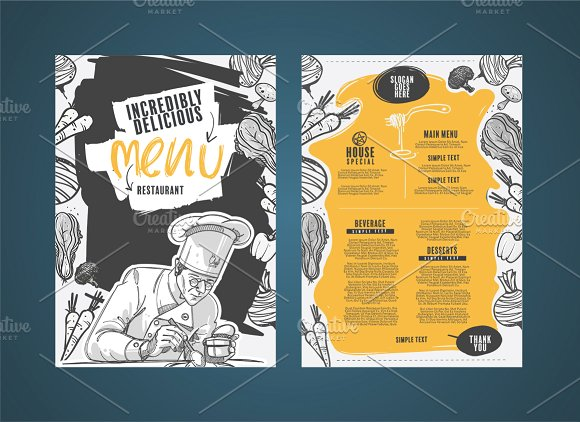 50 restaurant menu designs that look better than food creative market blog