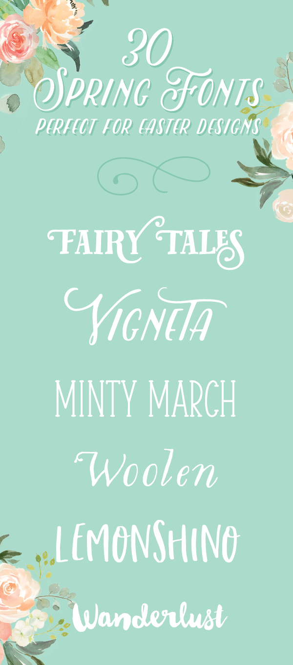 30 spring fonts that are perfect for easter designs