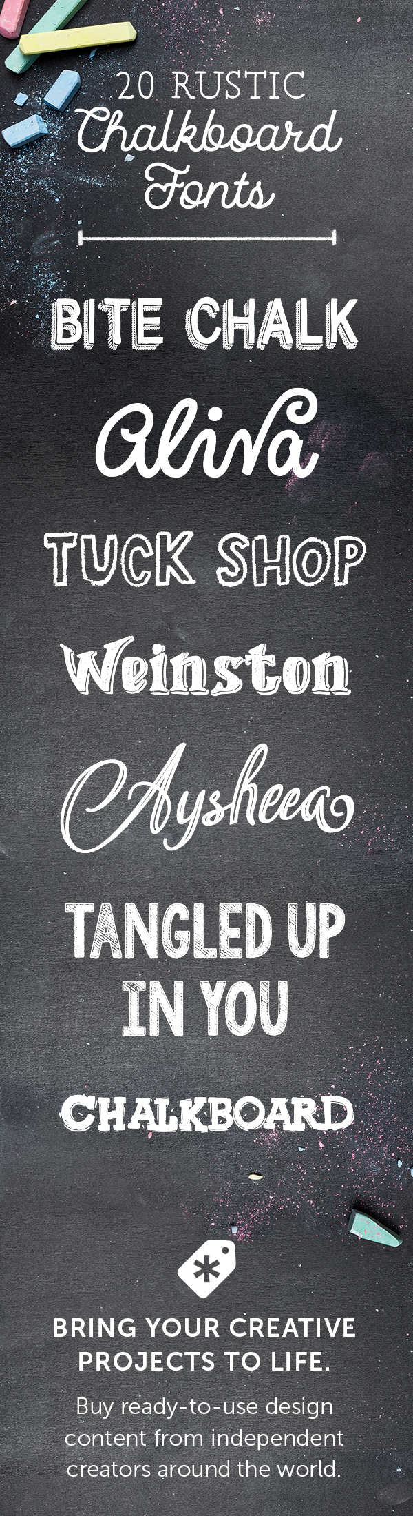 20 Rustic Chalkboard Fonts To Add Your Collection Creative