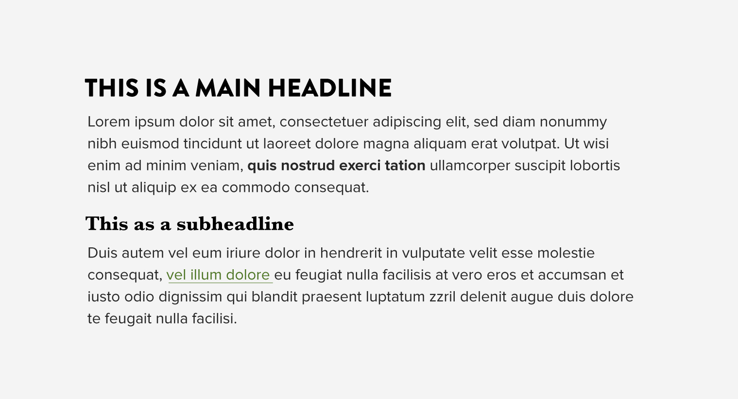 Typographic contrast - Pairing fonts Baskerville with Brandon Grotesque