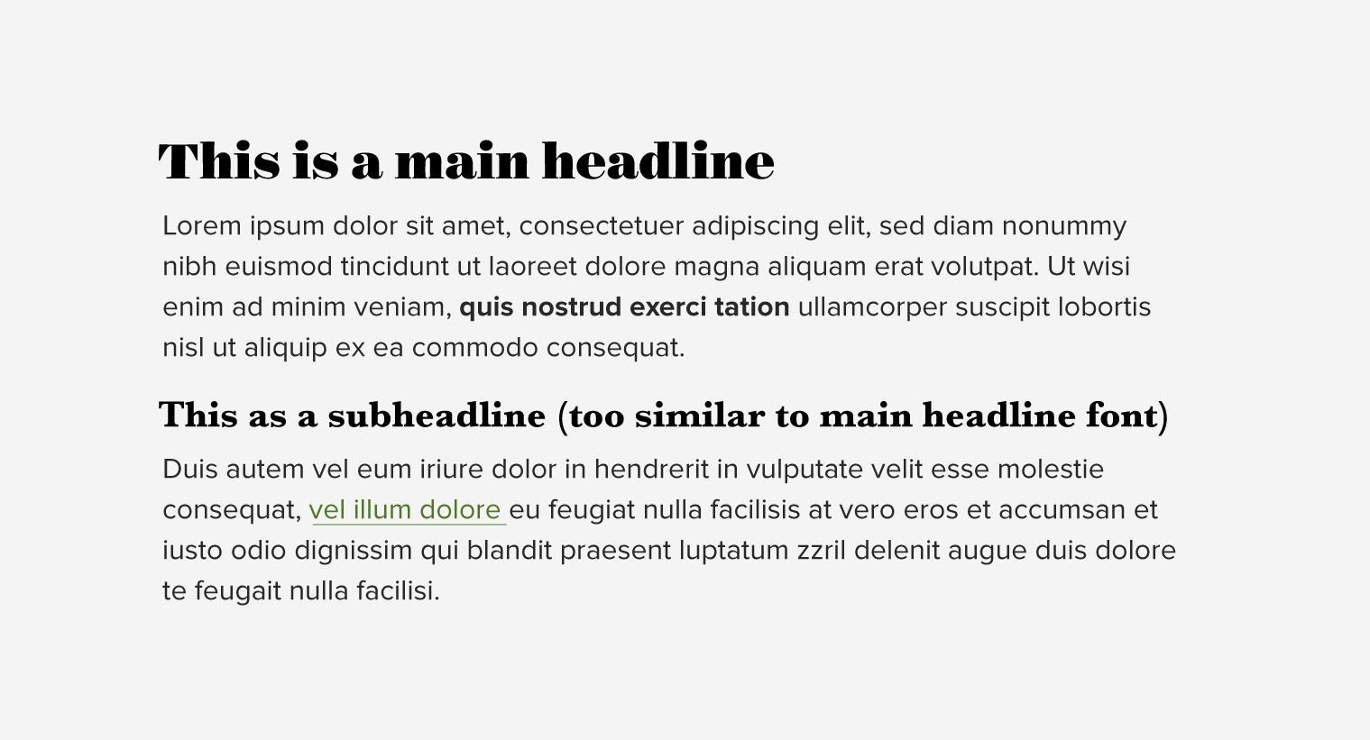 Typographic Contrast - Pair fonts for interest - Pairing Google Fonts
