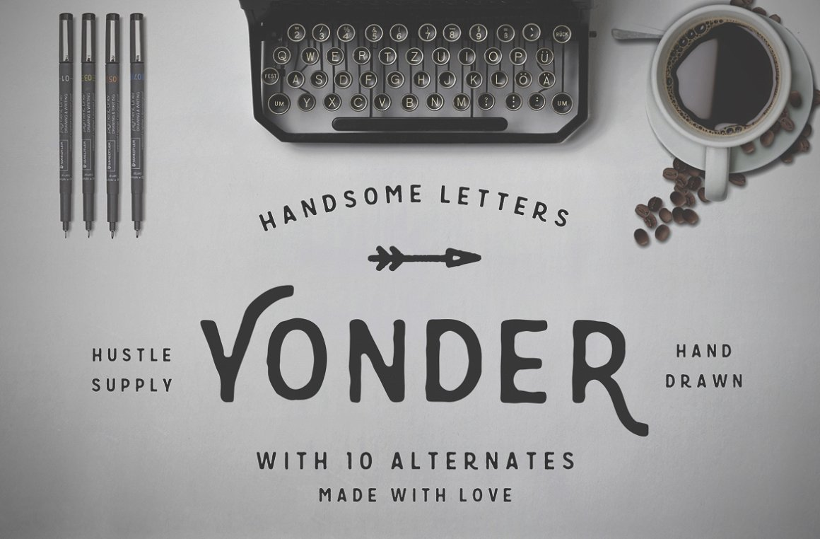 Yonder - Best handwritten fonts for contrast