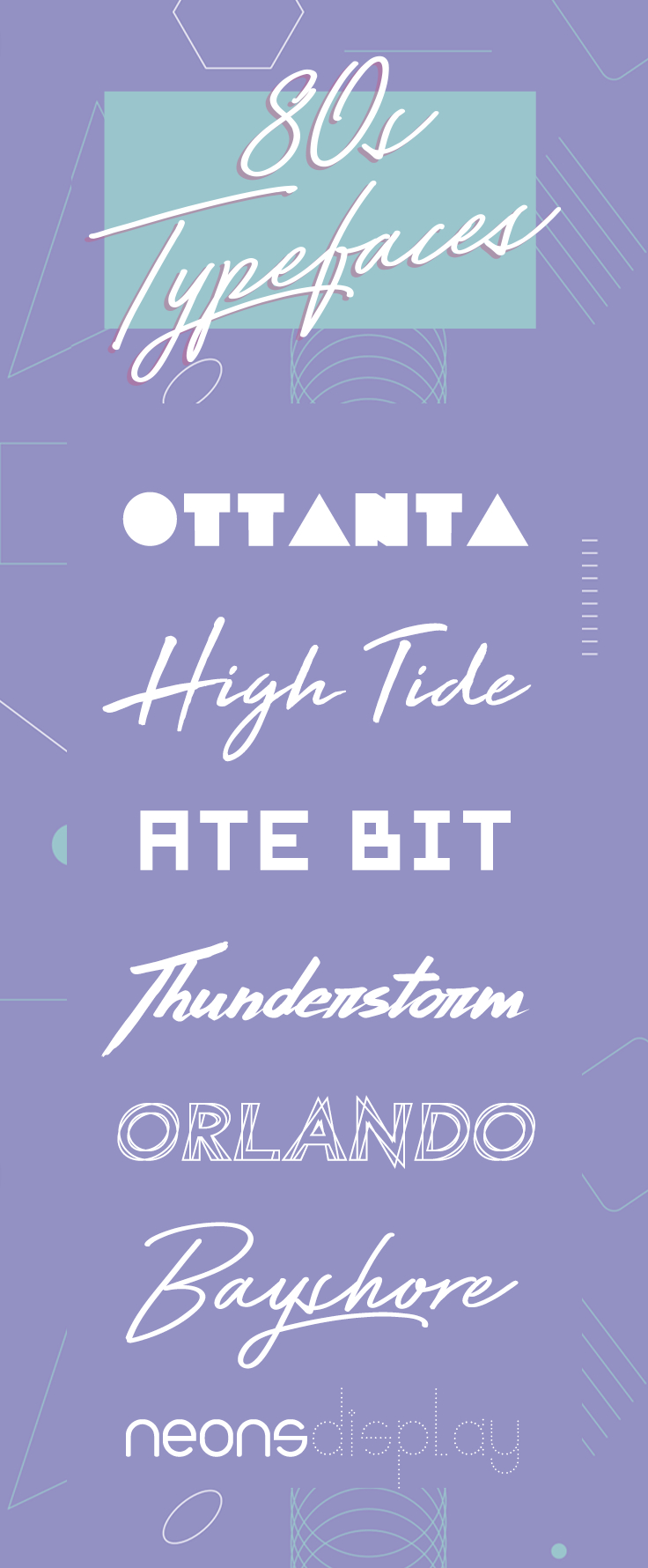 20 Perfect 1980's Typefaces to Evoke Nostalgia ~ Creative Market Blog