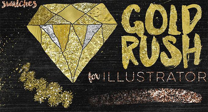 gold rush swatches