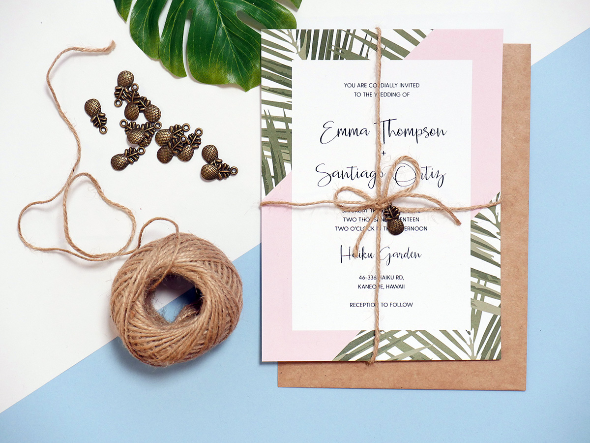 Tropical Wedding Invitation Tutorial