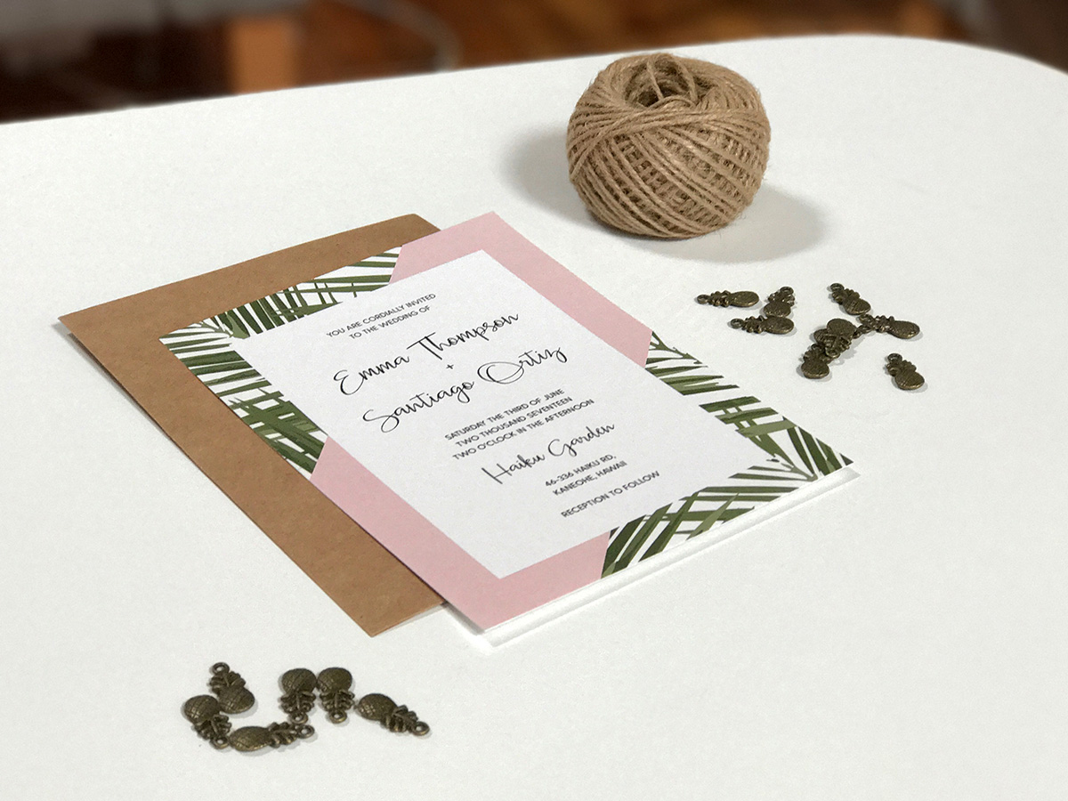 Tropical Wedding Invitation Tutorial Materials