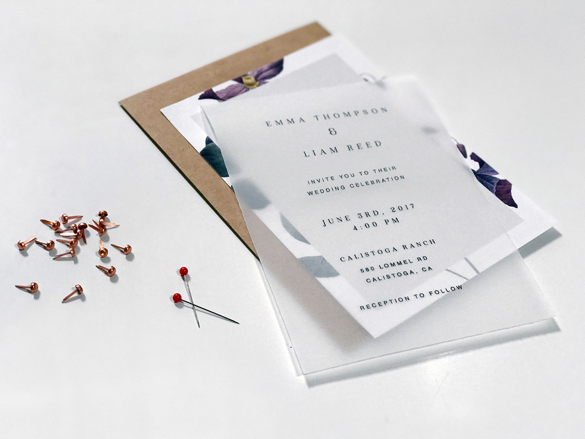 DIY Elegant Wedding Invitation Matierials