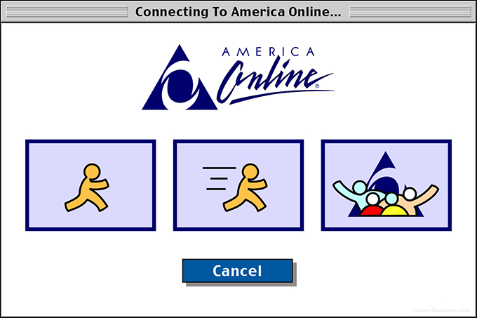 AOL login window