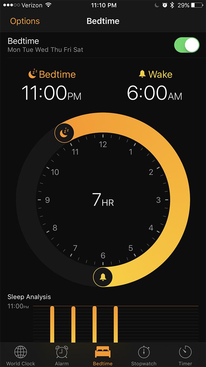 Apple iOS wake up alert