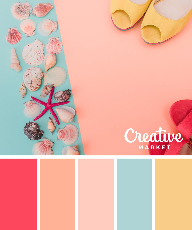 15 downloadable pastel color palettes for summer creative market blog. Black Bedroom Furniture Sets. Home Design Ideas