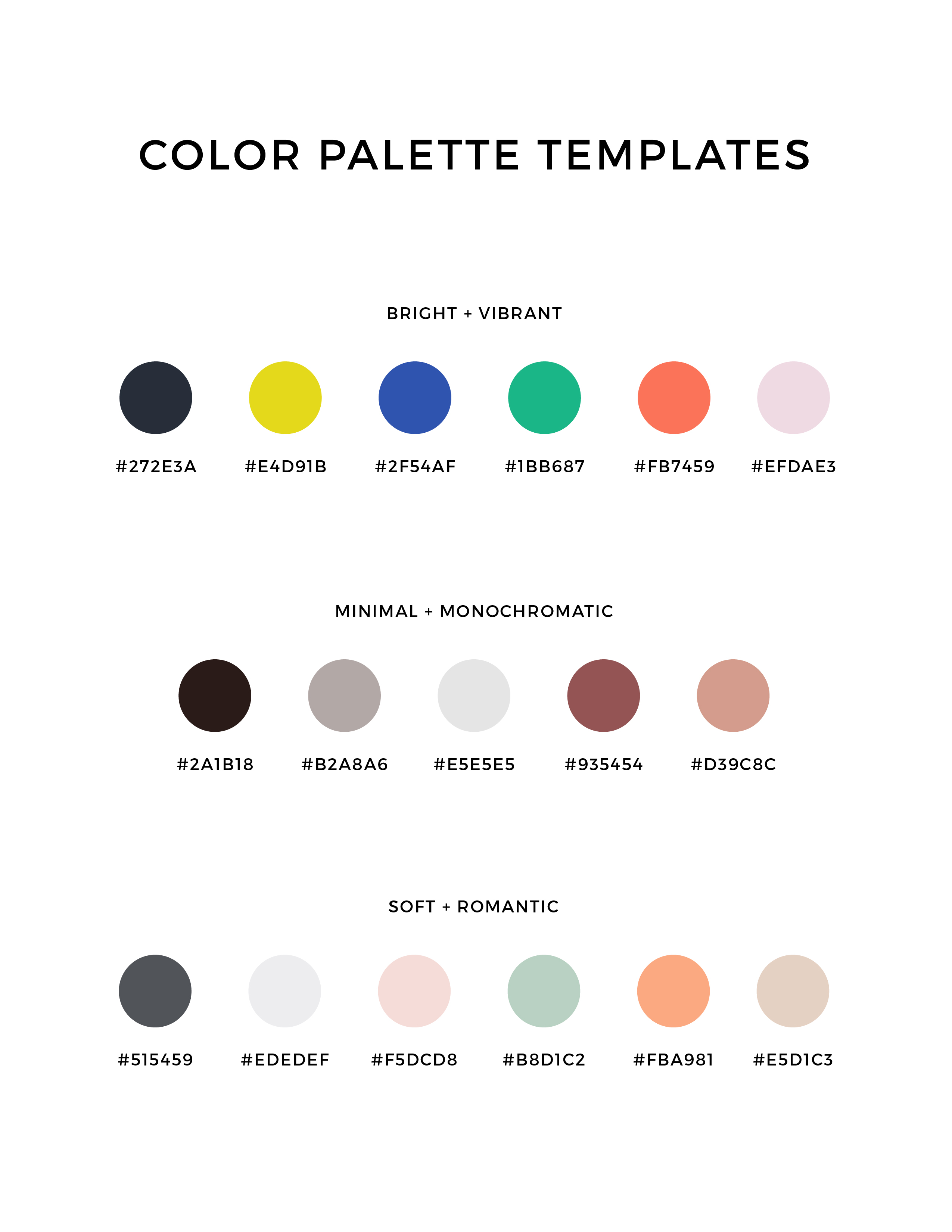 How to choose the right color palette for your business creative pin it ccuart Image collections