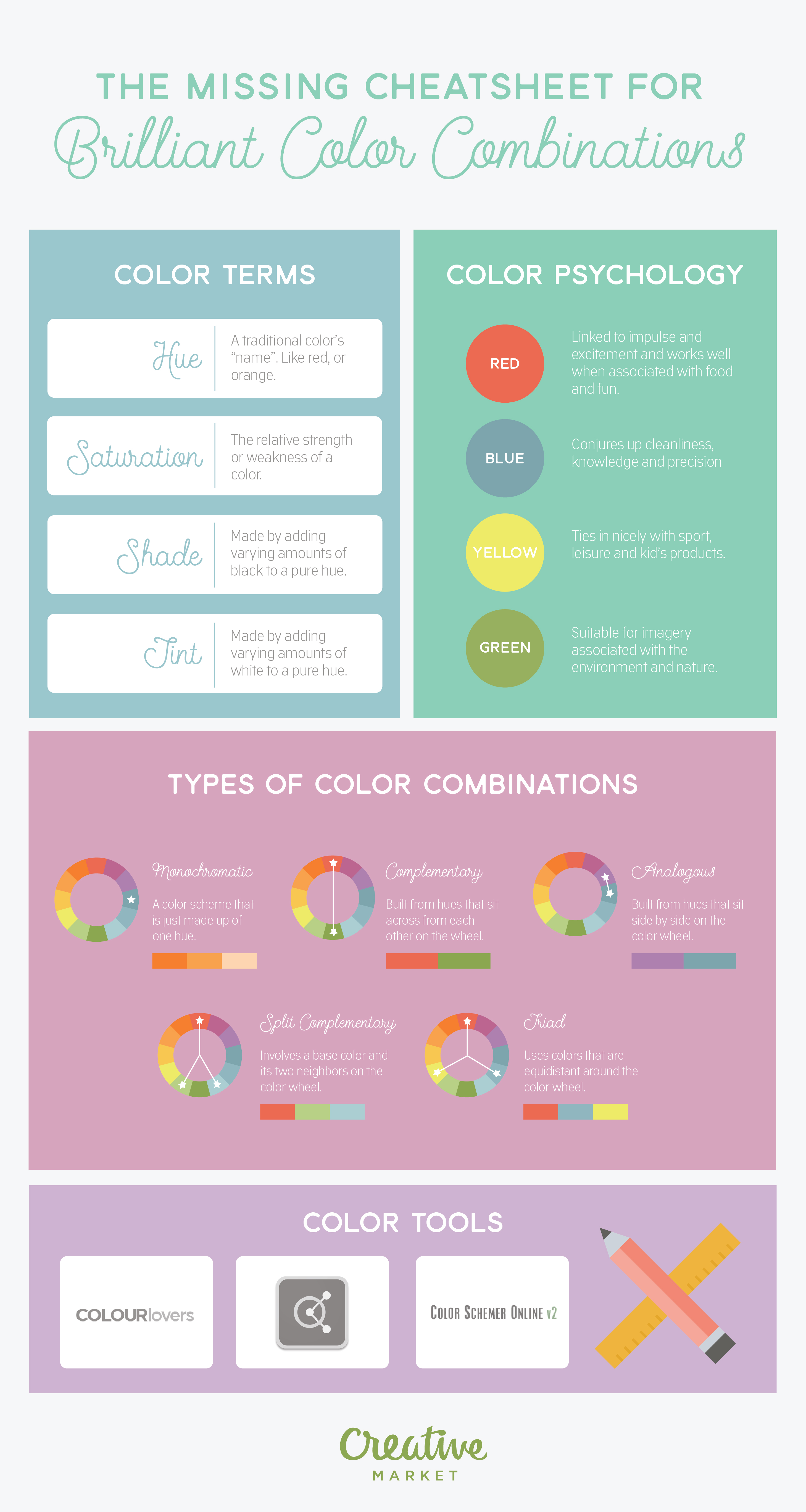 20 Charts That Make Combining Colors So Much Easier ~ Creative ...