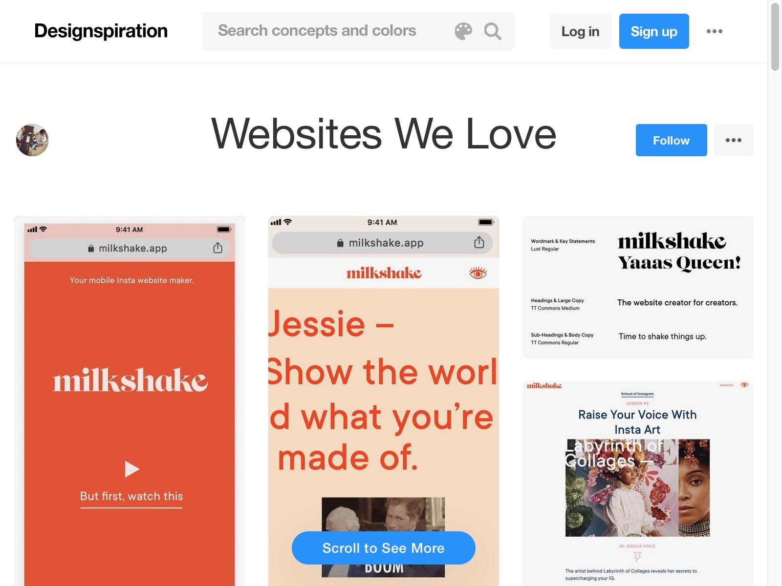 "Explore MindSpárkle Magazine's collection ""Websites We Love"" on Designspiration"