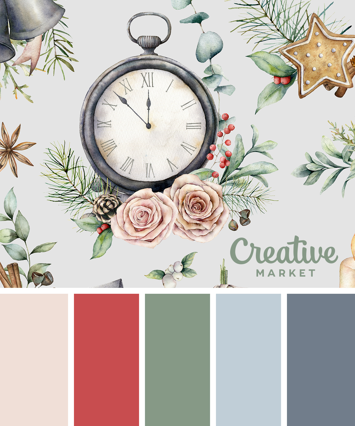 Christmas Color Palettes 8 Designers Share Their Go To Hues Creative Market Blog