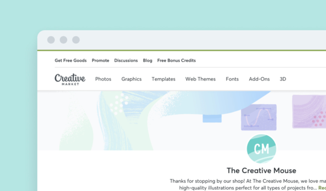 Designing a New Profile for Creative Market Shops
