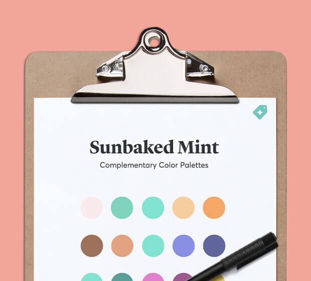 Sunbaked Mint Palettes