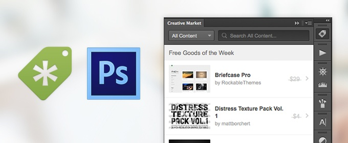 Announcing the Creative Market Photoshop Extension!