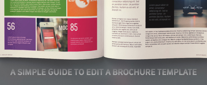 A Simple Guide To Edit A Brochure Template Creative Market Blog - Simple brochure templates
