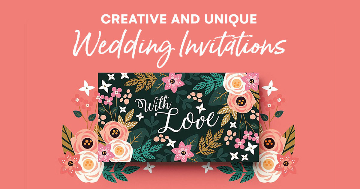 23 Creative And Unique Wedding Invitations Creative Market