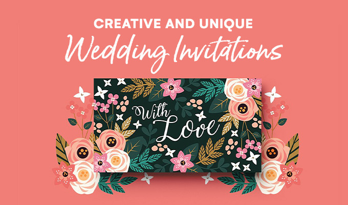 23 Creative and Unique Wedding Invitations Creative Market Blog