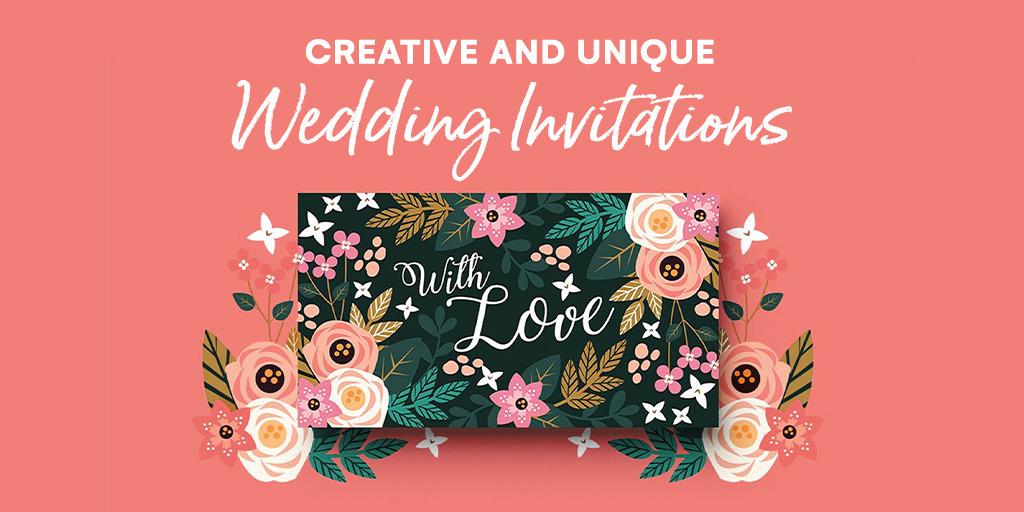 23 Creative And Unique Wedding Invitations Creative Market Blog