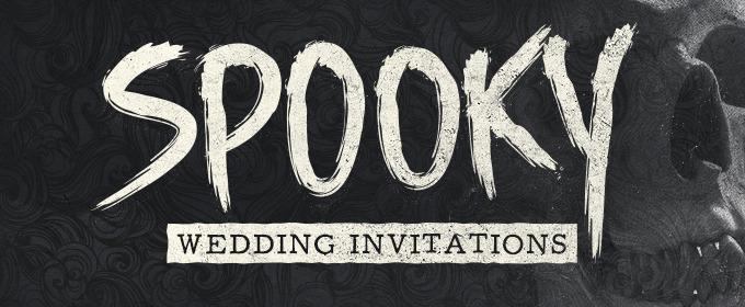12 Spooky Wedding Invites