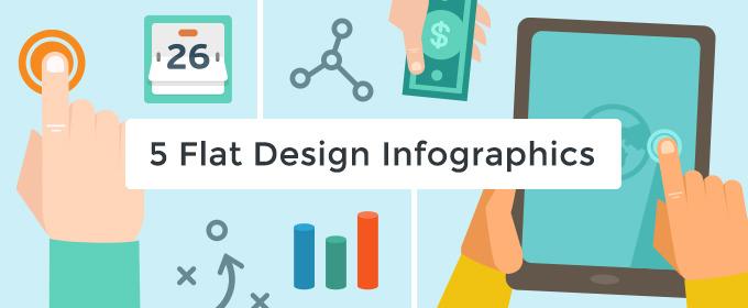 5 Flat Design Infographics