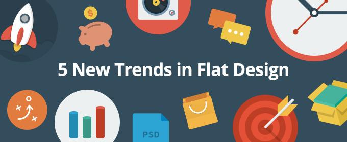 5 New Trends in Flat Design