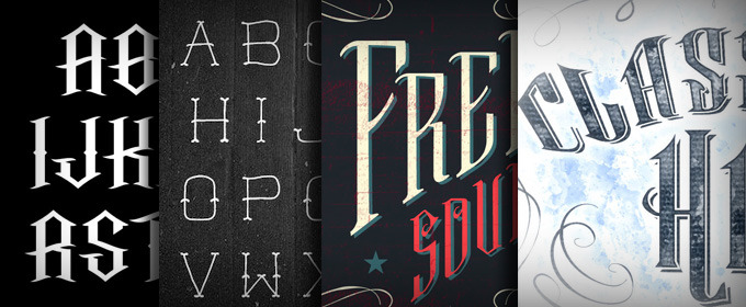 20 Cool Tattoo Fonts For Your Next Vintage Design ~ Creative