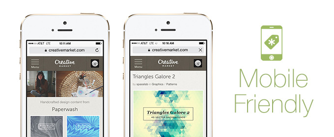 Check Out Creative Market on Your Mobile Device