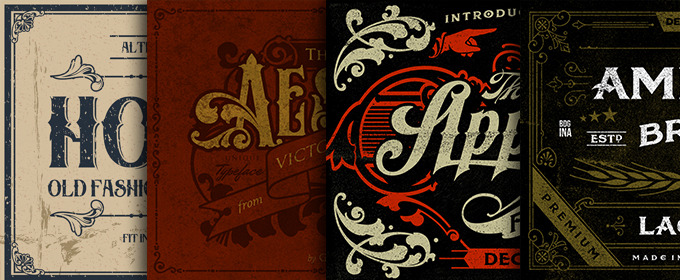 20 Old School Fonts for Creating Vintage Sign Art ~ Creative ...