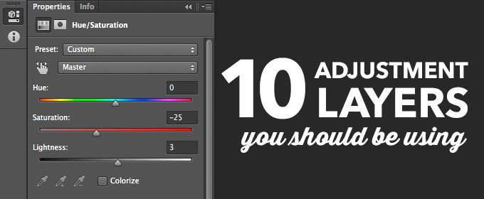 10 Photoshop Adjustment Layers You Should Be Using: Part 1